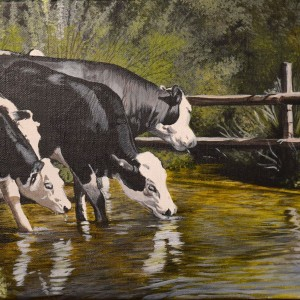 Cows in the Pong Painting