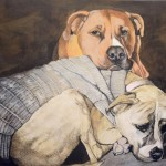 Multiple Pet Portrait- Painting of Two Dogs