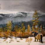 mountains-horse-painting